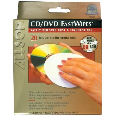 Allsop CD Fastwipes 20 Pk ALS50100
