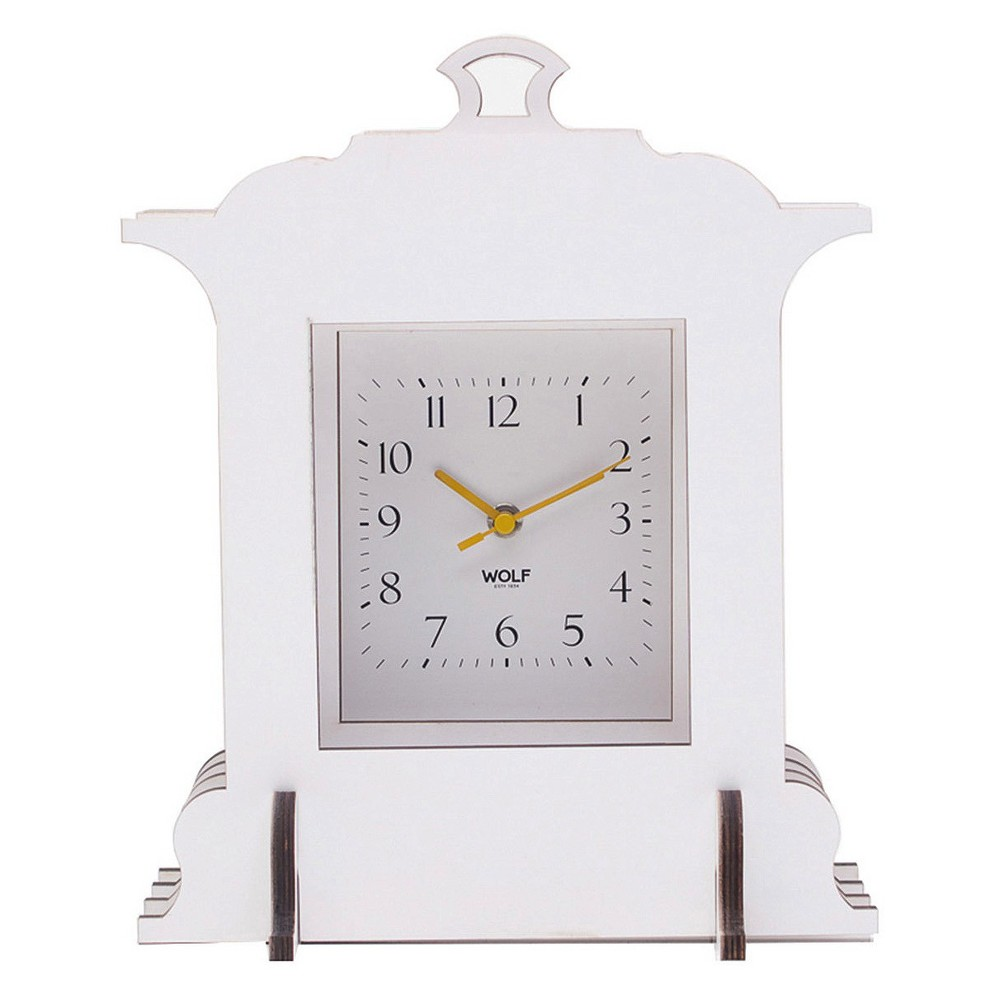Jigsaw Grand Mantel Clock White - Wolf