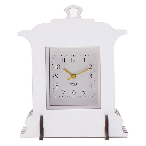 Jigsaw Grand Mantel Clock White - WOLF® - image 1 of 3