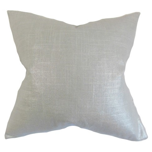 "Silver Velvet Square Throw Pillow (20""x20"") - The Pillow Collection - image 1 of 1"
