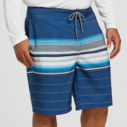 "Men's Big & Tall Striped 10"" Citation Board Shorts - Goodfellow & Co™ Blue - image 1 of 3"