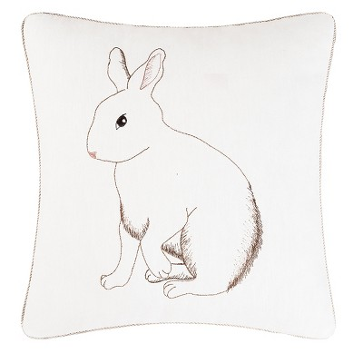 """C&F Home 18"""" x 18"""" Bunny Spring Easter Embroidered Pillow"""