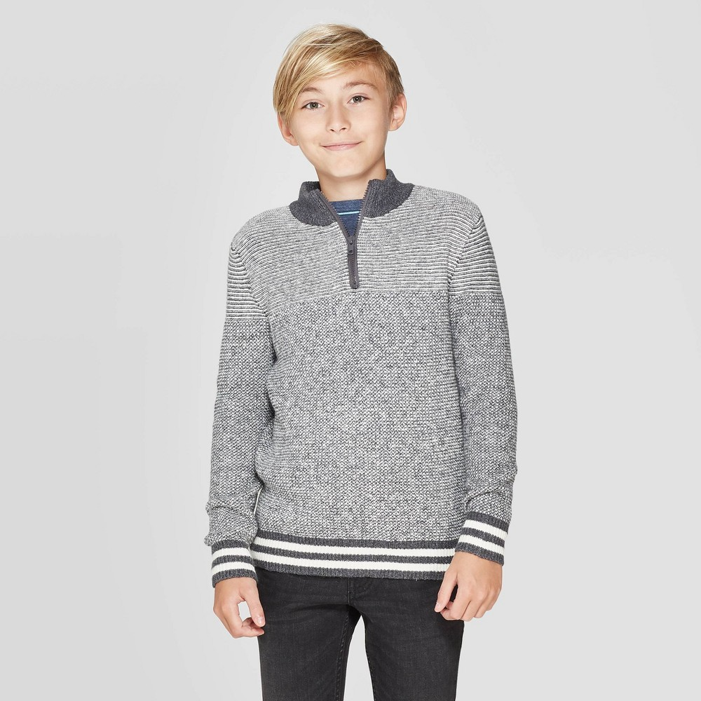 Image of Boys' Pullover Sweater - Cat & Jack Gray XXL, Boy's
