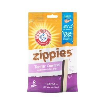 Arm & Hammer Zippies Chicken Flavor Large Dental Dog Treats - 8ct