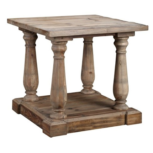 Wood Accent Table in Gray Wash-Burnham Home Designs - image 1 of 2