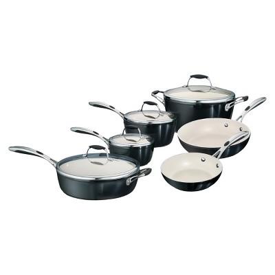 Tramontina Gourmet Ceramica Deluxe 10 Piece Cookware Set - Black