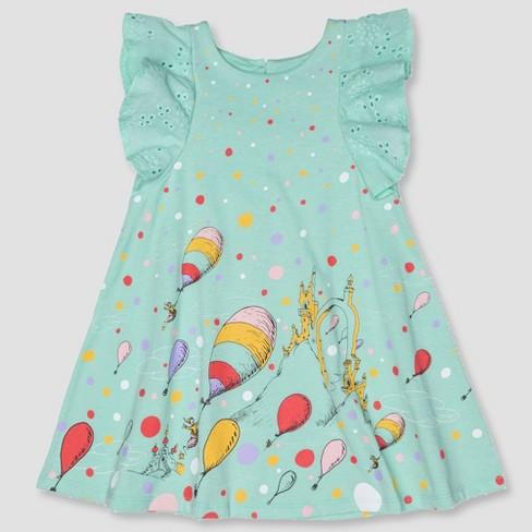 acb7bb80c Toddler Girls' Dr. Seuss A-line Dress - Aqua : Target