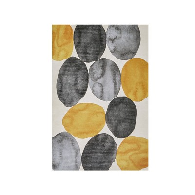 """36"""" x 24"""" Amber Puzzle Gel Coat Printed Canvas Yellow"""