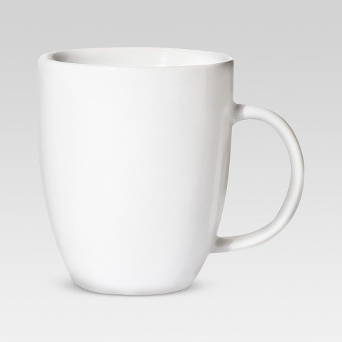 14oz Porcelain Coupe Mug White Threshold