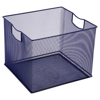 """8"""" X 10"""" X 11"""" Wire Decorative Toy Storage Bin Navy - Pillowfort™"""