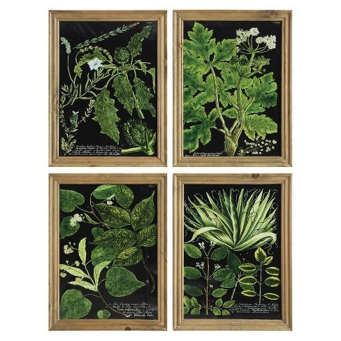 "Leaves Framed Wall Art Brown 16.5""x12"" 4pk - 3R Studios - image 1 of 1"