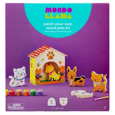 Paint-Your-Own Wood Pets Kit - Mondo Llama™