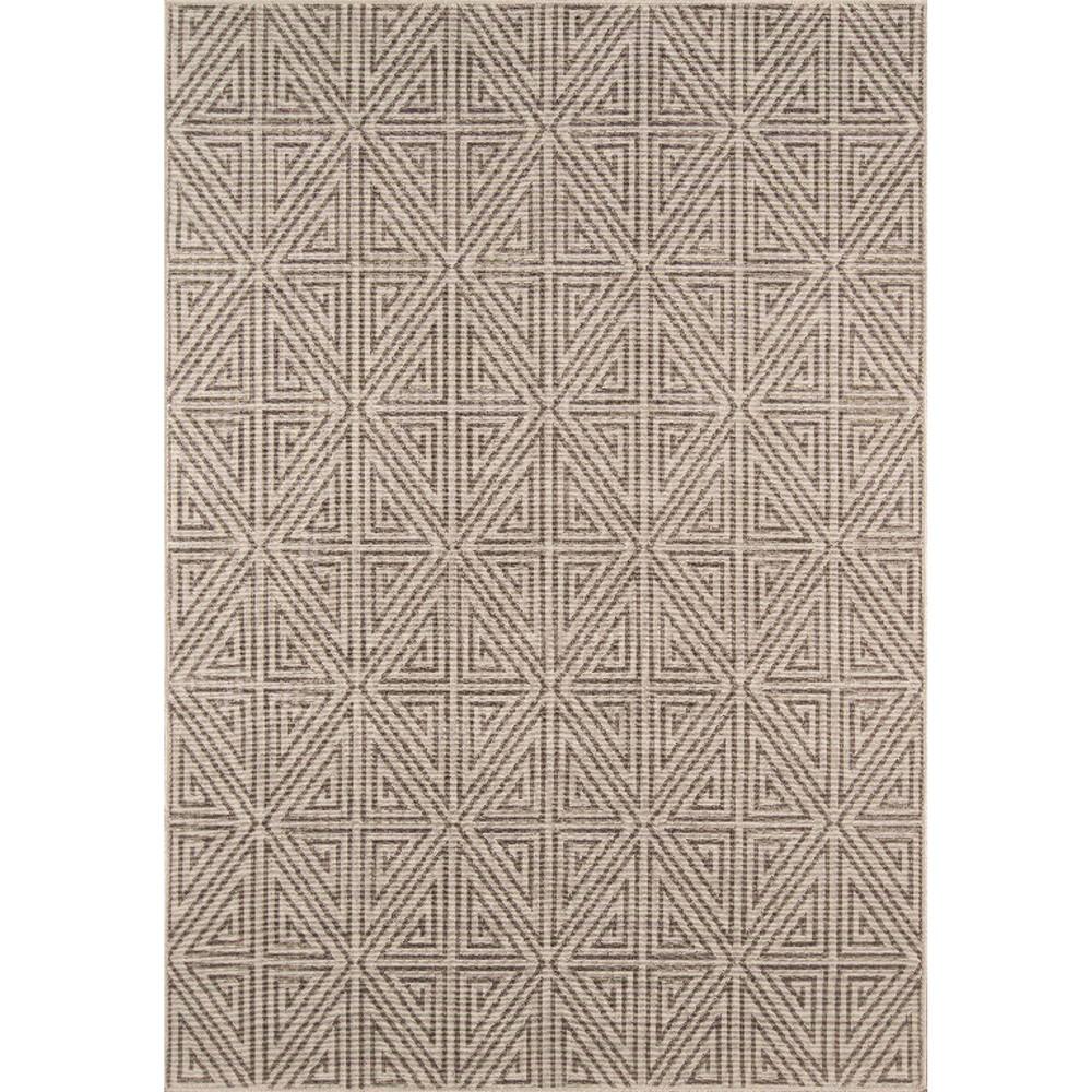 Indoor/Outdoor Diamond Area Rug - Taupe (Brown) (7'x10')