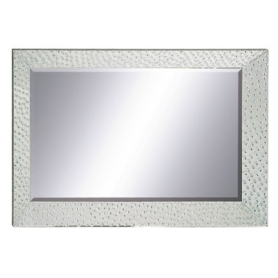 "32"" x 47"" Modern Rectangular Glass Framed Wall Mirror - Olivia & May"