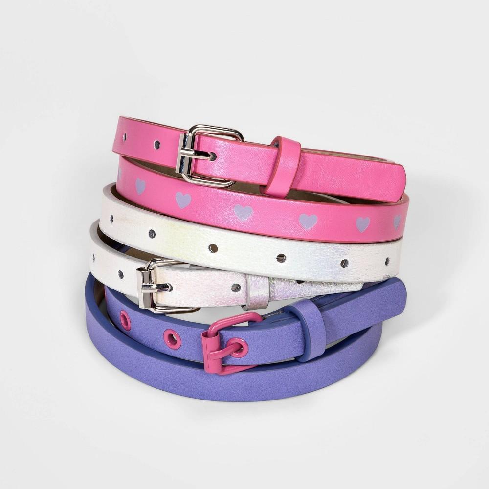 Top Girls' 3pk Heart Belt - Cat & Jack™