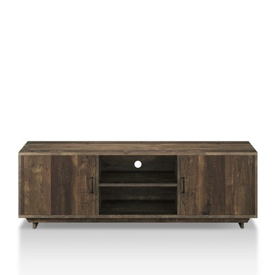 "60"" Fraire Contemporary TV Stand Reclaimed Oak - HOMES: Inside + Out"