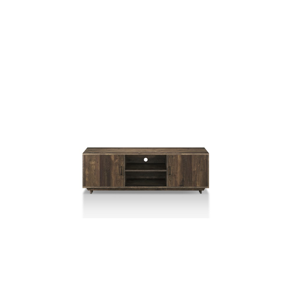 """Image of """"60"""""""" Fraire Contemporary TV Stand Reclaimed Oak - ioHOMES, Brown"""""""