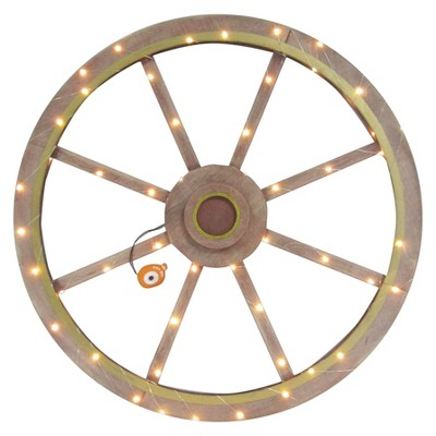 Harvest Lit Wagon Wheel