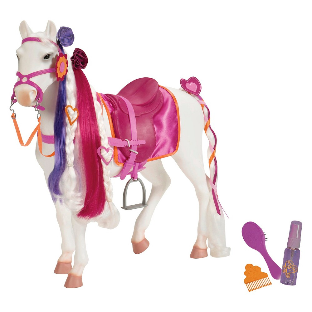 Our Generation Camarillo Hair Play Horse Accessory For 18 34 Dolls Pink 38 White