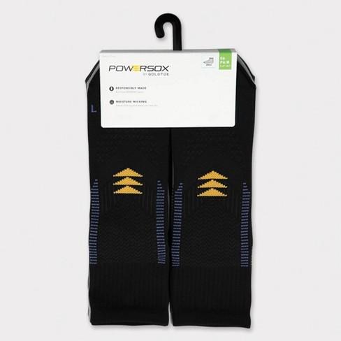 PowerSox Men's Side Dash Flat Knit Ankle Socks - 6-12 - image 1 of 3