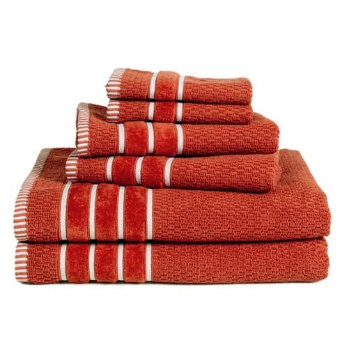 6pc Combed Cotton Bath Towels Sets