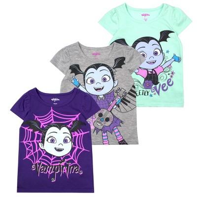 Disney Girl's 3-Pack Sleeve Graphic Tees