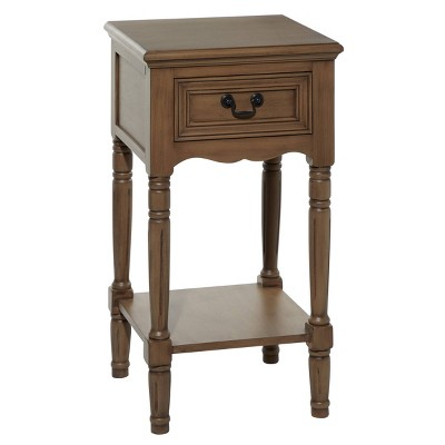 Traditional Wood Accent Table Brown - Olivia & May