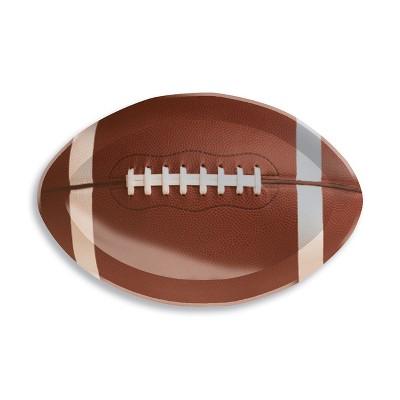 Football Plastic Tray Brown