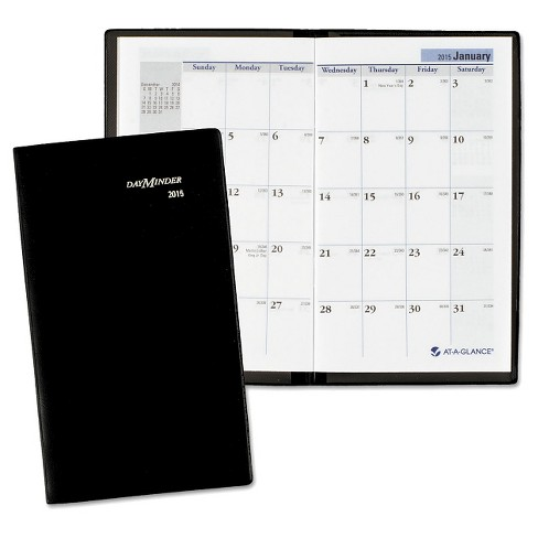 dayminder pocket sized monthly planner 3 5 8 x 6 1 16 black 2016