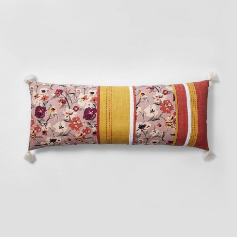 Pieced Floral Oversized Lumbar Throw Pillow - Opalhouse™ - image 1 of 5