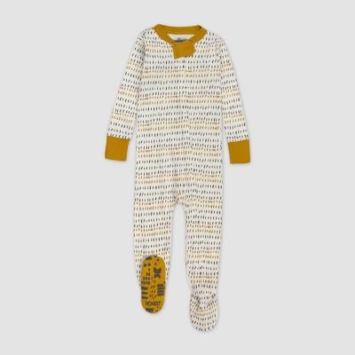 Honest Baby Boys' Herring Bone Pajama Set - Gray 12M