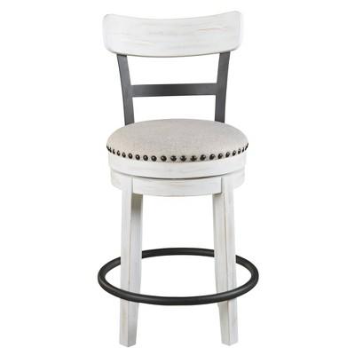 Valebeck Upholstered Swivel Counter Height Barstool White - Signature Design by Ashley
