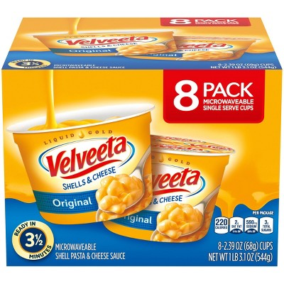 Velveeta Shells & Cheese Original Single Server Microwave Cups - 8pk