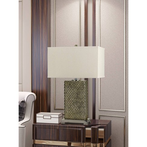 150W 3 Way Tavros Ceramic Table Lamp Argent  - Cal Lighting - image 1 of 1