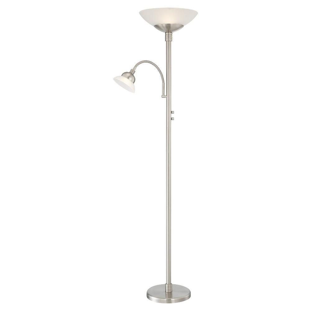 Natalia Led Floor Lamp Polished Steel (Includes Energy Efficient Light Bulb) - Lite Source