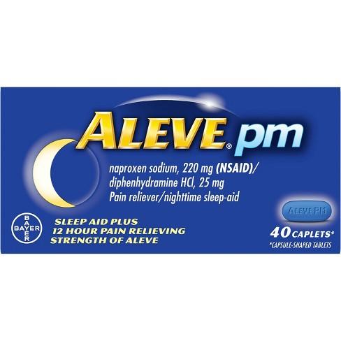 Aleve PM Sleep Aid Plus Pain Relief Caplets - Naproxen Sodium (NSAID) - image 1 of 3