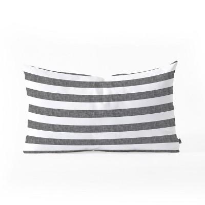 Little Arrow Design Co Stripes In Lumbar Throw Pillow Gray - Deny Designs
