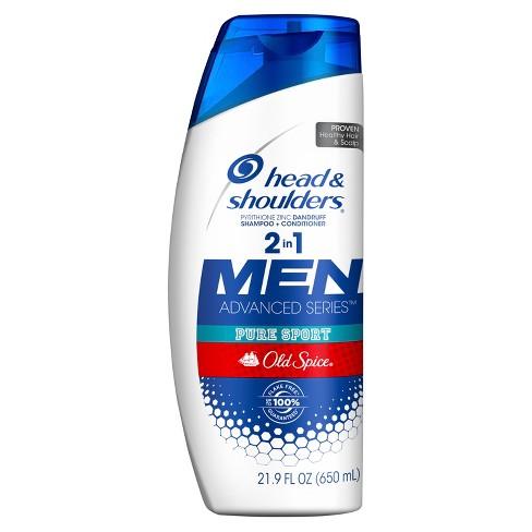 Head & Shoulders Old Spice Pure Sport Dandruff 2 in 1 Shampoo + Conditioner - 21.9 fl oz - image 1 of 2