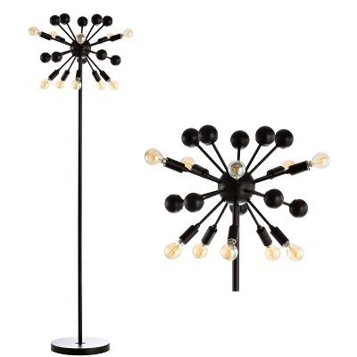 "63"" Metal Sputnik Floor Lamp (Includes LED Light Bulb) Black - Jonathan Y"