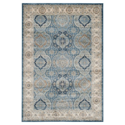 Barrie Area Rug Light Blue Ivory 8