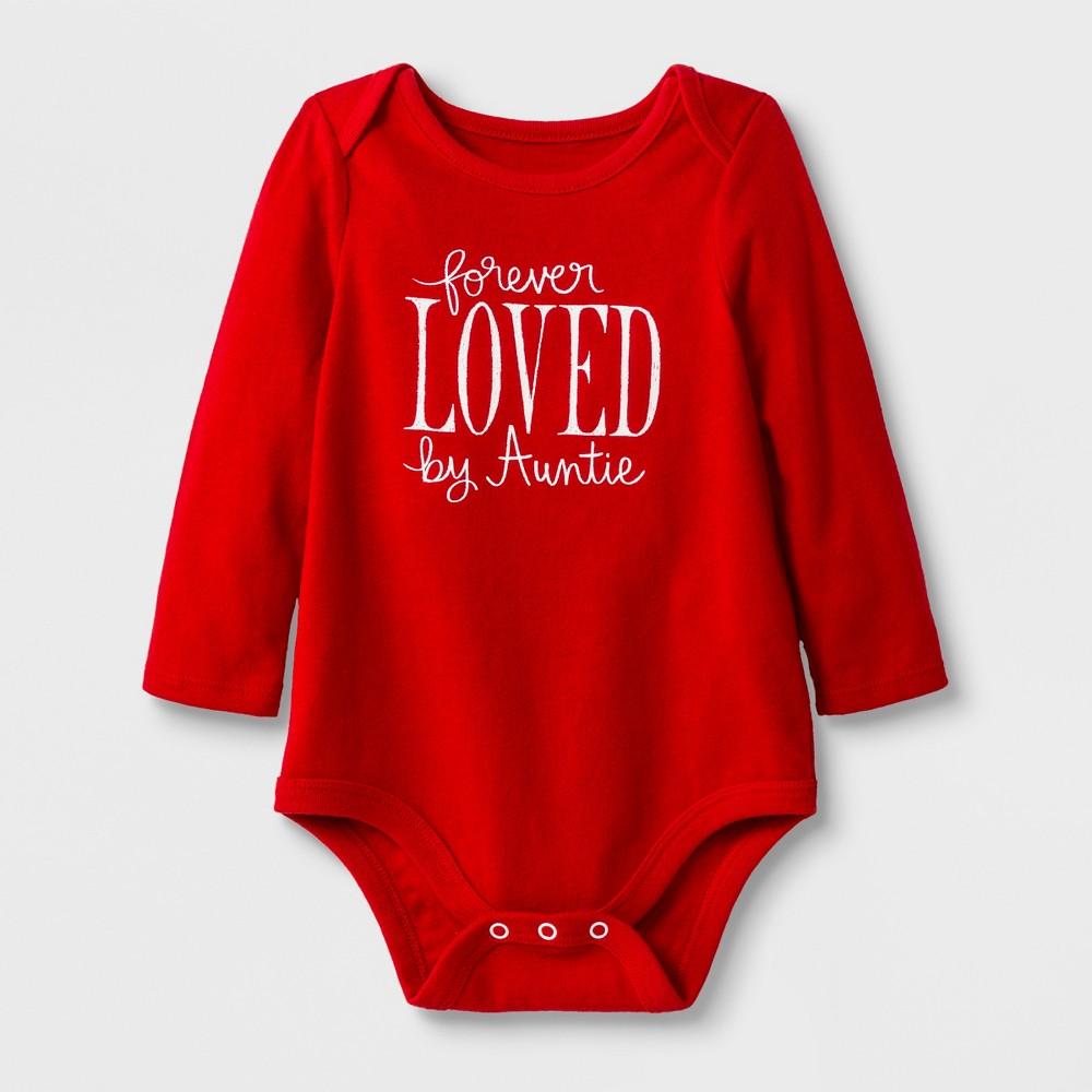 Baby Girls' Long Sleeve Forever Loved Bodysuit Set - Cat & Jack Red 24M