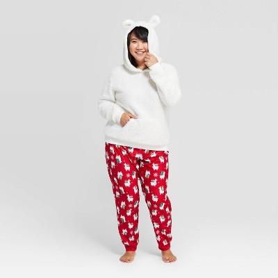 Women's Holiday Llama Pajama Set - Wondershop™ White XXL