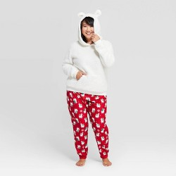 Women's Holiday Llama Pajama Set - Wondershop™ White