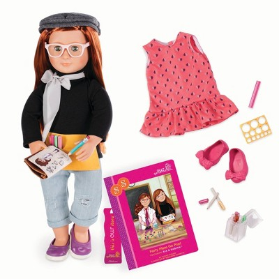 """Our Generation 18"""" Posable Artist Doll with Storybook & Accessories - Sabina"""