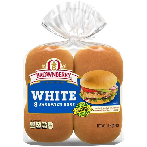 Brownberry White Hamburger Buns - 8ct - image 1 of 4