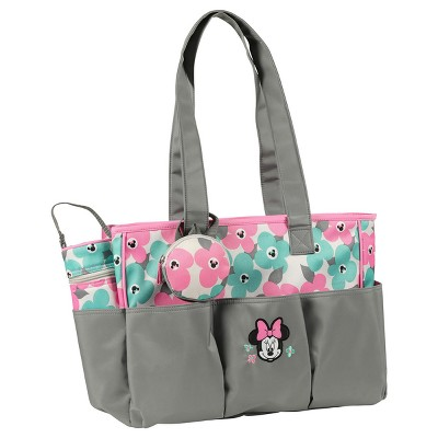 Disney Minnie Mouse Diaper Bag 3pc - Mint Floral