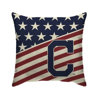 MLB Cleveland Indians Americana Decorative Throw Pillow