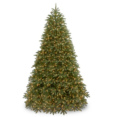 9ft National Christmas Tree Company Full Jersey Frasier Fir Medium Artificial Christmas Tree 1500 Dual Color LED - image 1 of 2