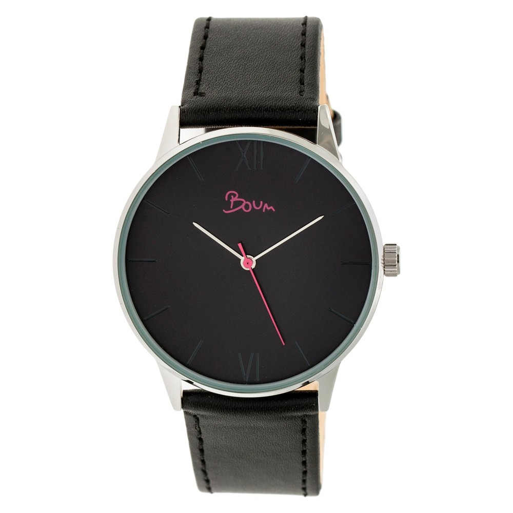 Women's Boum Dimanche Leather-Band Watch - Black Denim
