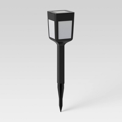 Square Solar Pathway Light Black - Room Essentials™